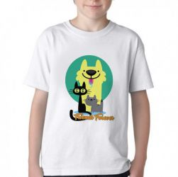 Camiseta Infantil Pets Friend Forever