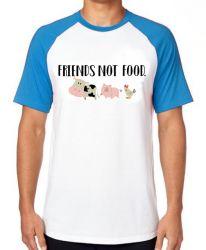 Camiseta Raglan Friends not food