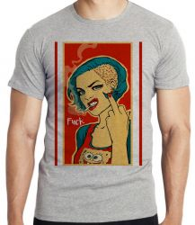 Camiseta Infantil Fuck Woman