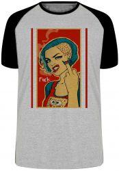 Camiseta Raglan Fuck Woman