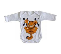 Roupa Bebê manga longa Garfield arranhando