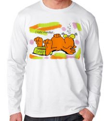 Camiseta Manga Longa Garfield I hate mondays