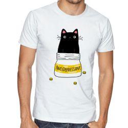 Camiseta Gatinho antidepressivo