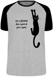 Camiseta Raglan Gato e sapato
