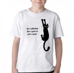 Camiseta Infantil Gato e sapato