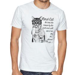 Camiseta Gato Nerd Mouse