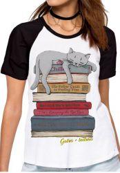 Blusa Feminina Gato + leitura