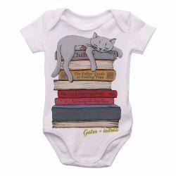 Roupa  Bebê Gato + leitura