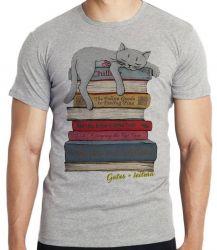 Camiseta Gato + leitura