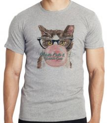 Camiseta Gatos bubble gum