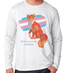 Camiseta Manga Longa gatos poemas ambulantes