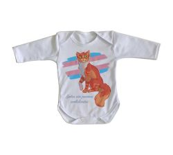 Roupa Bebê manga longa gatos poemas ambulantes