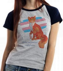 Blusa Feminina gatos poemas ambulantes