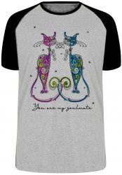 Camiseta Raglan Gatos You are my soulmate
