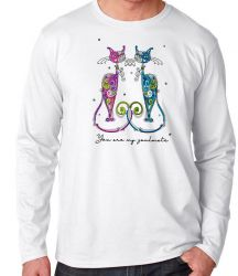 Camiseta Manga Longa Gatos You are my soulmate