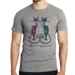 Camiseta Infantil Gatos You are my soulmate