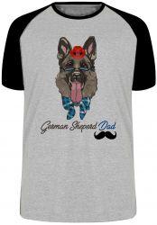 Camiseta Raglan German Sheperd Dad