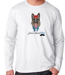 Camiseta Manga Longa German Sheperd Dad