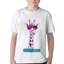 Camiseta Infantil Girafando