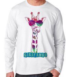 Camiseta Manga Longa Girafando