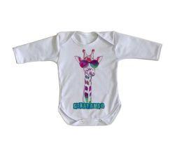 Roupa Bebê manga longa Girafando