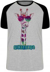Camiseta Raglan Girafando