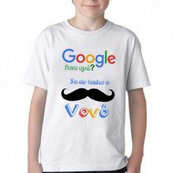Camiseta Infantil Google Vovô