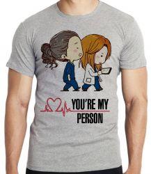 Camiseta Infantil  Grey's Anatomy Meredith Cristina