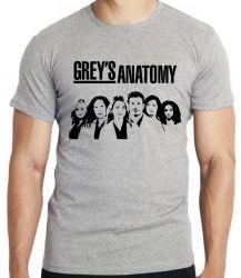 Camiseta Infantil  Grey's Anatomy Personagens