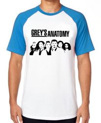 Camiseta Raglan  Grey's Anatomy Personagens