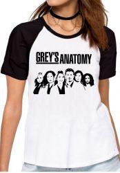 Blusa Feminina Grey's Anatomy Personagens