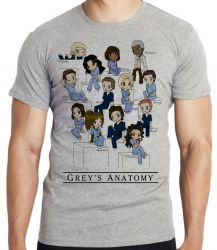 Camiseta Infantil  Grey's Anatomy equipe