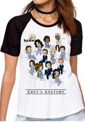 Blusa Feminina Grey's Anatomy equipe