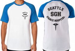 Camiseta Raglan  Grey's Anatomy Seattle Grace