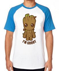 Camiseta Raglan Groot Bebê