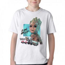 Camiseta Infantil Groot controle