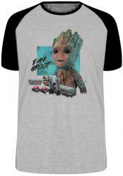 Camiseta Raglan Groot controle