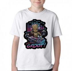 Camiseta Infantil Groot DJ