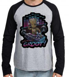 Camiseta Manga Longa Groot DJ