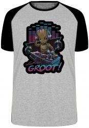 Camiseta Raglan Groot DJ