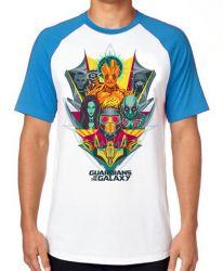 Camiseta Raglan Guardiões da Galáxia colorido
