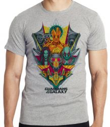 Camiseta Guardiões da Galáxia colorido