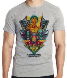 Camiseta Infantil Guardiões da Galáxia colorido