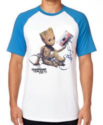 Camiseta Raglan Groot fita