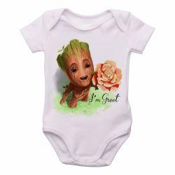 Roupa  Bebê  Groot rosa