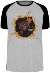 Camiseta Raglan Rocket Groot