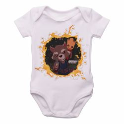 Roupa  Bebê  Rocket Groot