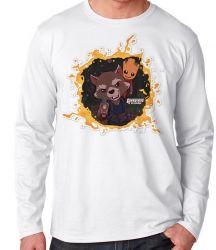 Camiseta Manga Longa Rocket Groot