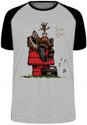 Camiseta Raglan Rocket Groot Snoopy