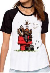 Blusa Feminina  Rocket Groot Snoopy